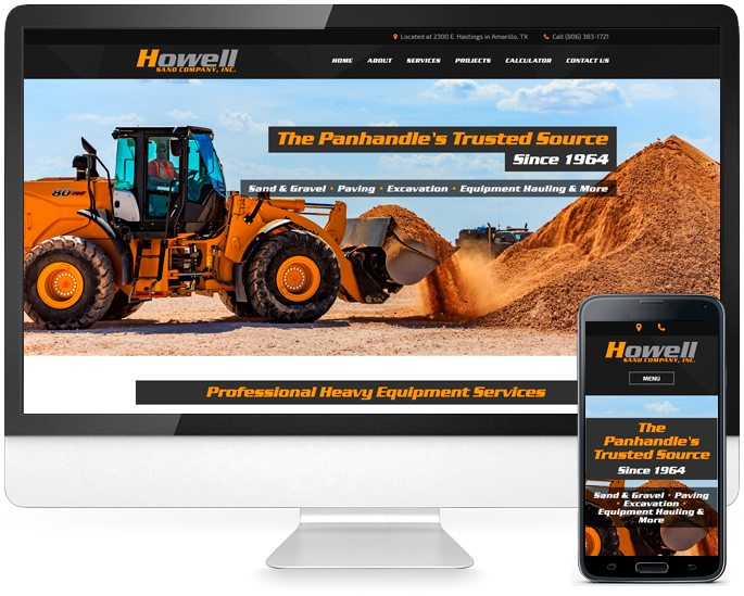 Contractor website design in Amarillo, TX