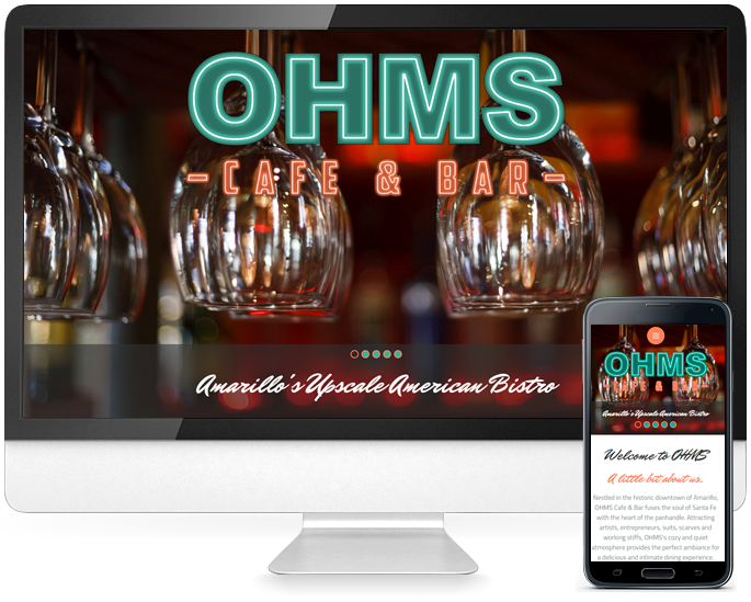 Restaurant website design in Amarillo, TX