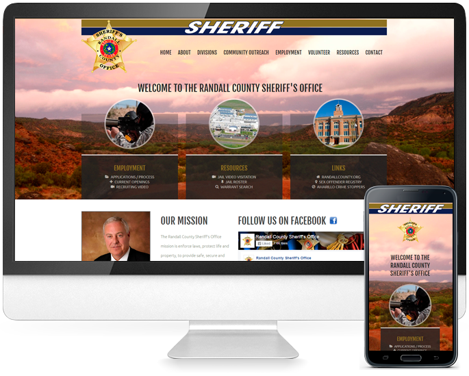 Government agency website design in Amarillo, TX